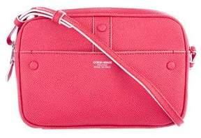 Giorgio Armani Grained Leather Crossbody Bag