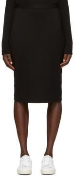 6397 Black Stretch Pencil Skirt