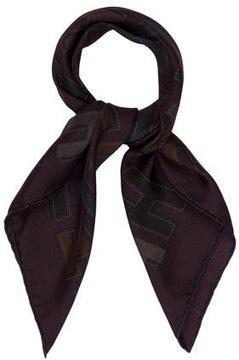 Hermes H Print 70cm Silk Scarf