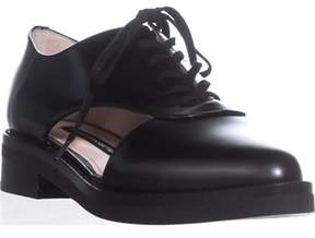 French Connection Mazin Cutout Side Lace Up Oxfords, Black.