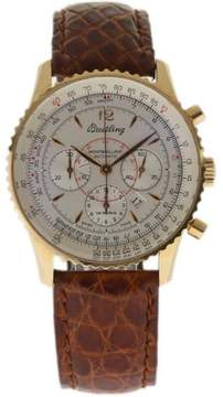 Breitling Montbrillant H41030 Rose Gold Leather 38mm Mens Watch