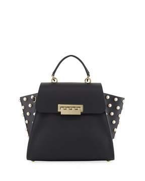Zac Posen Eartha Iconic Crossbody Bag with Pearly Trim, Black