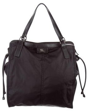 Burberry Buckleigh Nylon Tote - BLACK - STYLE