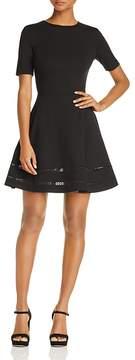 Aqua Crochet Inset Fit-and-Flare Dress - 100% Exclusive