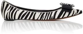 Marc Jacobs WOMEN'S INTERLOCKING J CALF HAIR FLATS