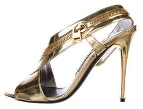 Tom Ford Metallic Slingback Sandals
