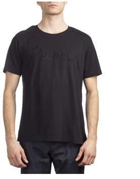 Pierre Balmain Men's Cotton Logo Short Sleeve T-shirt Black.