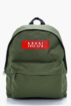 boohoo MAN Print Back Pack
