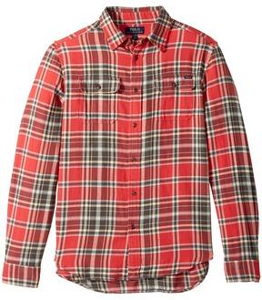 Polo Ralph Lauren Kids - Plaid Cotton Twill Workshirt Boy's Clothing