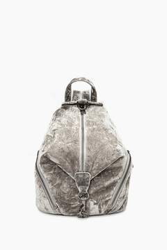 Rebecca Minkoff Velvet Medium Julian Backpack - GREY - STYLE
