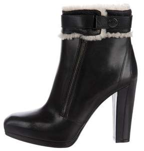 Belstaff Leather Square-Toe Ankle Boots
