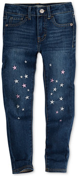 Levi's 710 Super Skinny Shine Embroidered Jeans, Little Girls (4-6X)