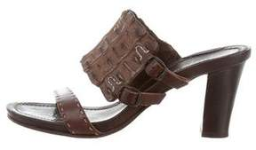 Henry Beguelin Crocodile Slide Sandals