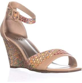 Impo Vandy Two-piece Wedge Sandals, Natural.