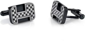 Ice Men's Black and White Chessboard Design Stainless Steel Cufflinks