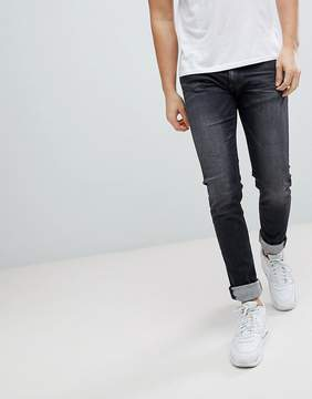 Replay Jondrill Washed Black Skinny Jeans