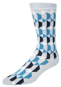 Cole Haan Geo Graphic Crew Socks