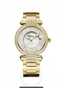 Chopard Imperiale Silver/Mother of Pearl Dial 18K Yellow Gold Ladies Watch