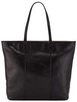 Neiman Marcus Slim Large Leather Tote Bag