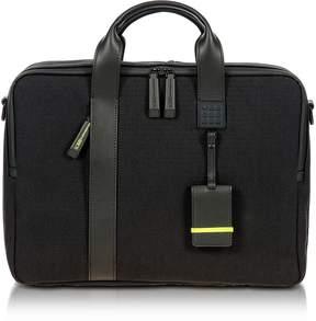 Bric's Black Nylon and Leather Briefcase