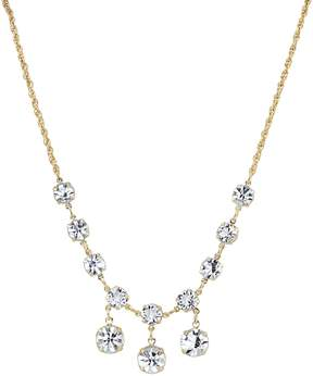 1928 Crystal Gold-Tone Dangle Necklace