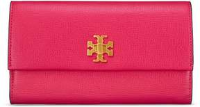 Tory Burch KIRA ENVELOPE CONTINENTAL WALLET - BRIGHT AZALEA - STYLE