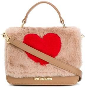 Love Moschino faux fur heart mini bag