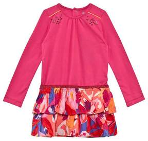 Catimini Pink Jersey and Floral Dress