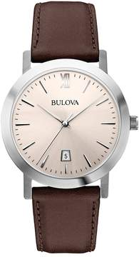 Bulova Men's Leather Watch - 96B217