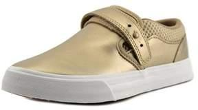 Supra Cubana Women Leather Gold Fashion Sneakers.