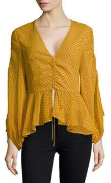 C/Meo CMEO COLLECTIVE Printed Ruffled Top