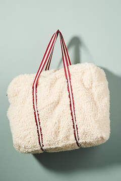 Anthropologie Oversized Shearling Tote Bag