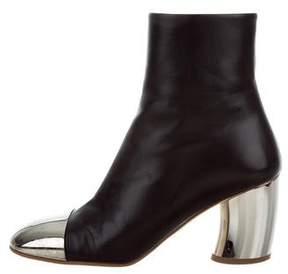 Proenza Schouler 2017 Leather Cap-Toe Ankle Boots