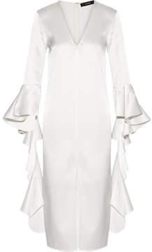 Ellery Ruffled Satin-crepe Dress - Ivory