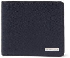 HUGO BOSS Embossed Cross-Grain Leather Billfold Wallet