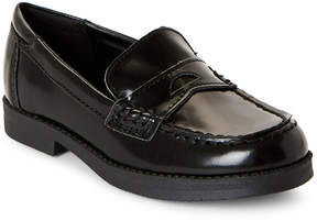 Kenneth Cole Reaction Toddler/Kids Boys) Black Leather Penny Loafers