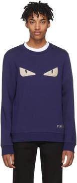 Fendi Blue Bag Bugs Sweatshirt