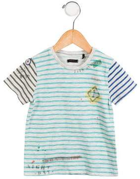 Ikks Boys' Striped Short Sleeve Shirt