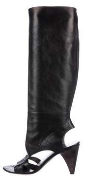 CNC Costume National Knee-High Cutout Boots