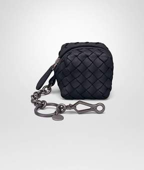 Bottega Veneta Key Ring In Tourmaline Intrecciato Nappa Leather