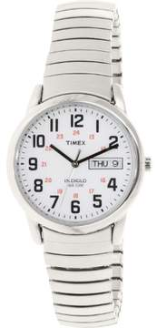 Timex Men's Easy Reader Watch, Silver-Tone Extra-Long Stainless Steel Expansion Band