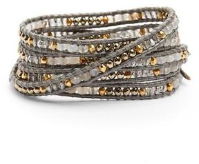Chan Luu Women's Semiprecious Stone Leather Wrap Bracelet