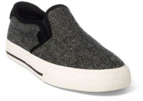 Ralph Lauren Vaughn Herringbone Sneaker Black/Cream 11.5
