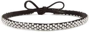 Isabel Marant Lush Stuff crystal-embellished suede belt
