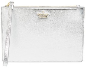 Kate Spade Women's Highland Drive - Yury Faux Leather Zip Pouch - Metallic - BLUE - STYLE