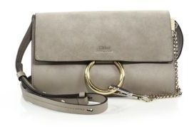Chloe Faye Small Suede & Leather Shoulder Bag