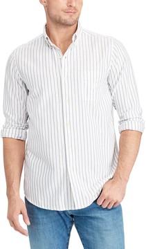 Chaps Big & Tall Bar Striped Button-Down Shirt