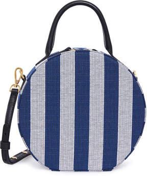 Mansur Gavriel Circle Striped Canvas Crossbody Bag