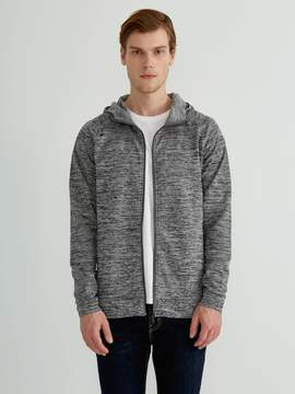 Frank and Oak drirelease French Terry Full-Zip Hoodie in Grey