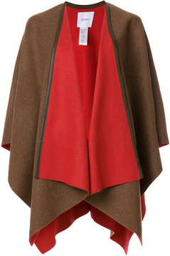 Agnona colour-block knitted poncho